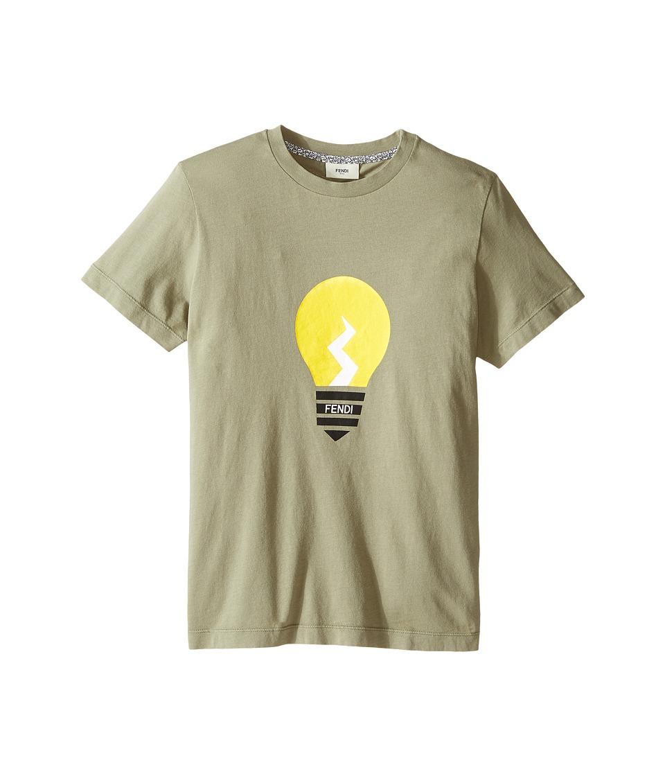Fendi Kids - Short Sleeve Graphic T-Shirt (Big Kids) (Light Green) Boy's T Shirt