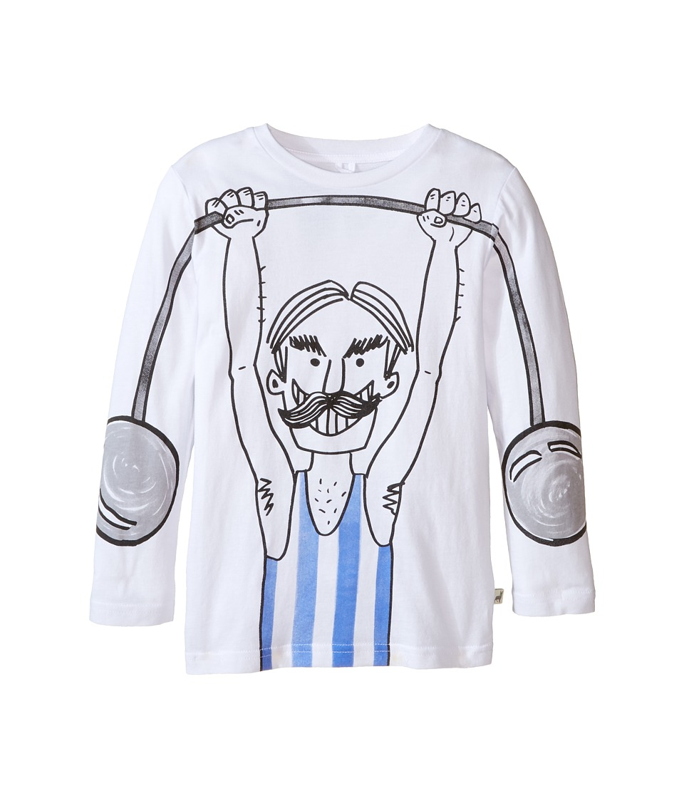 Stella McCartney Kids - Barley Weight Lift Graphic T-Shirt (Toddler/Little Kids/Big Kids) (White) Boy's T Shirt
