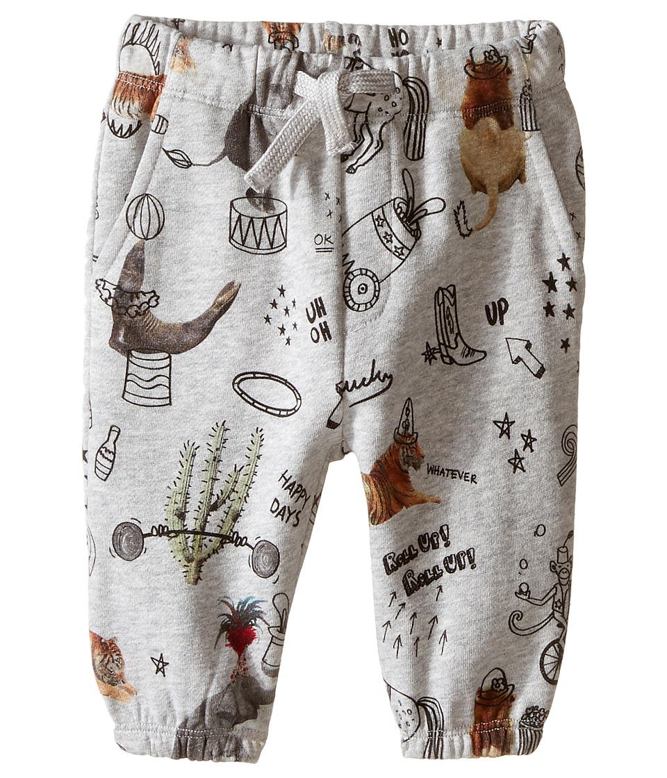 Stella McCartney Kids - Loopie Animal Print Fleece Pants (Infant) (Grey) Boy's Casual Pants