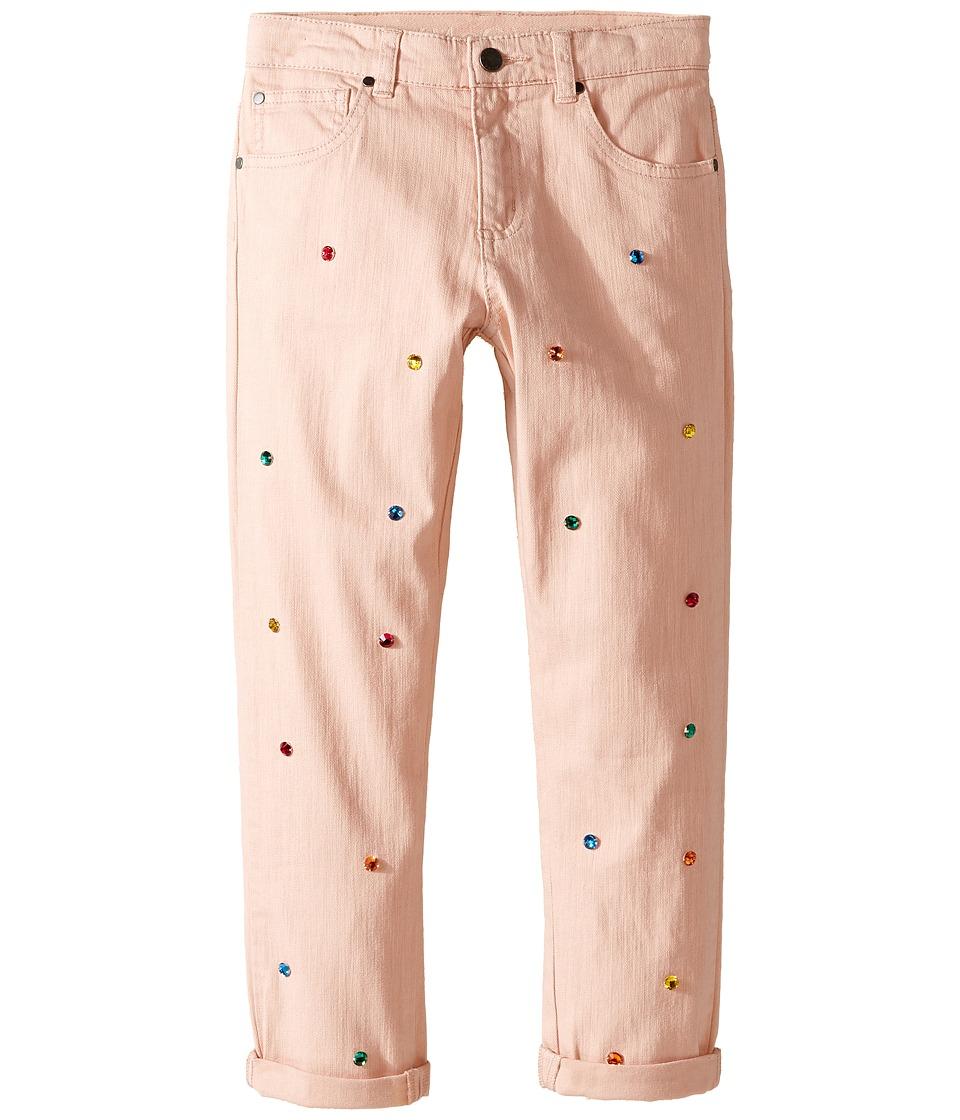 Stella McCartney Kids - Lohan Jewel Embellished Denim Pants (Toddler/Little Kids/Big Kids) (Peony) Girl's Jeans
