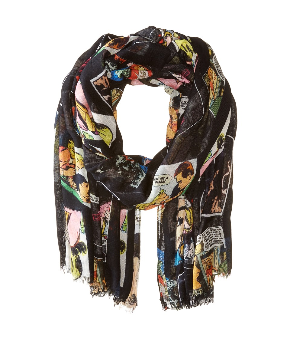 Bindya - Lulla by Bindya Comic Print Scarf (Black) Scarves