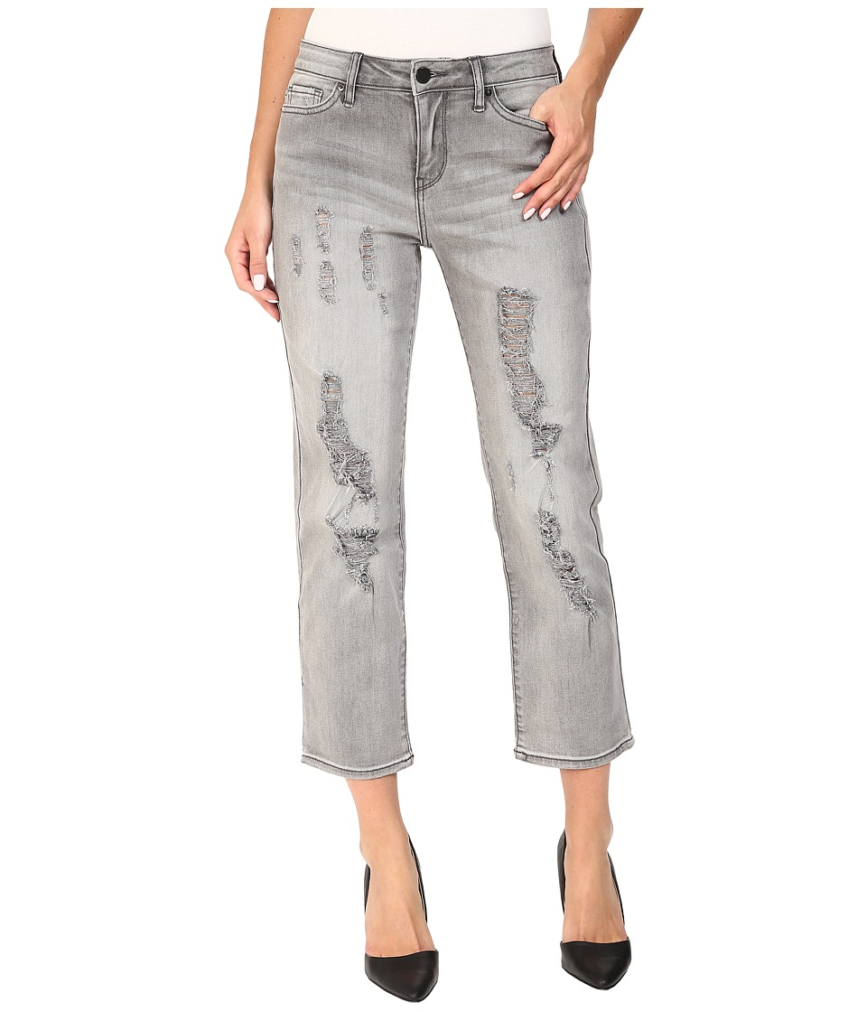 Calvin Klein Jeans - Destroyed Crop Straight Jeans in Grey Fog (Grey Fog) Women's Jeans