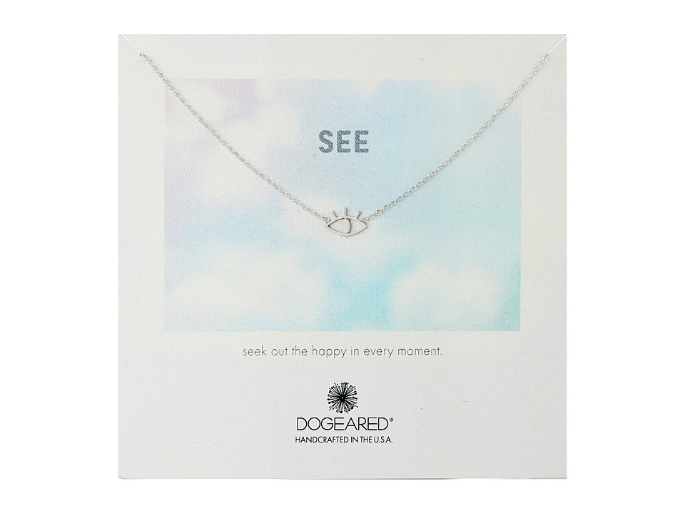 Dogeared - See Open Eye Necklace (Sterling Silver) Necklace