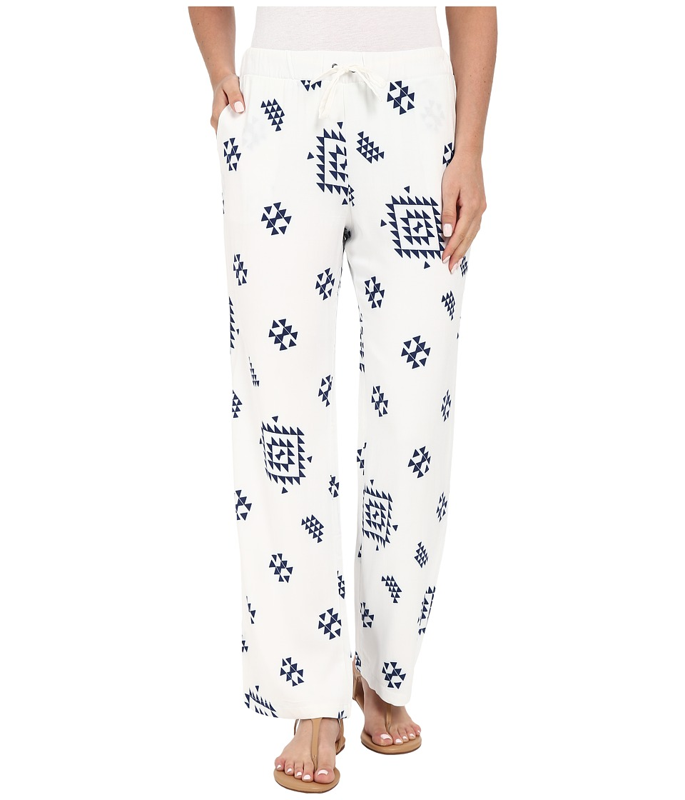Plush - Soleil K'in Beach Pants (White/Navy with Lining) Women's Pajama