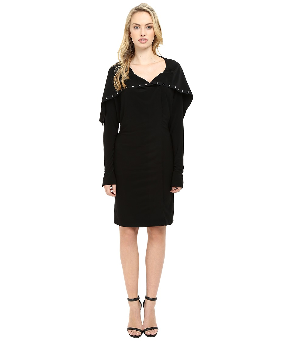 KAMALIKULTURE by Norma Kamali - Side Snap Dress To Knee (Black) Women's Dress