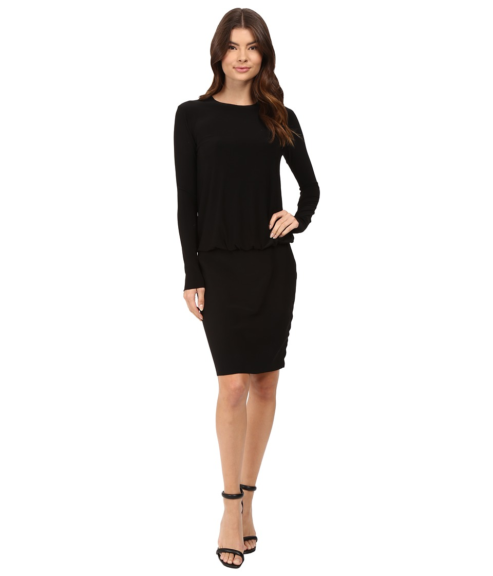 KAMALIKULTURE by Norma Kamali - Long Sleeve Babydoll Dress (Black) Women's Dress