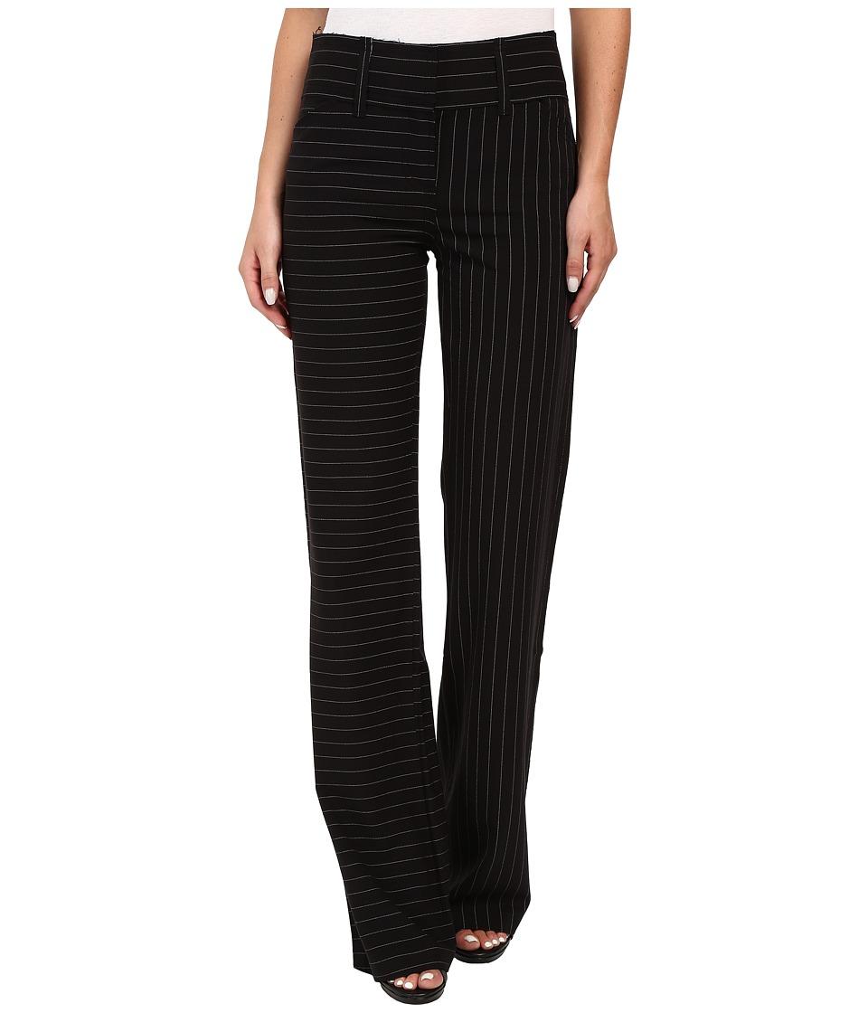 KAMALIKULTURE by Norma Kamali - Classic Pants (Black Pinstripe) Women's Casual Pants