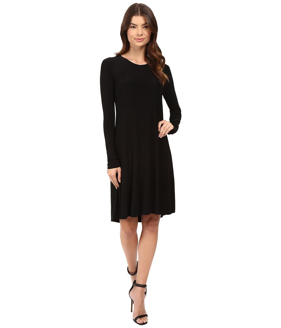KAMALIKULTURE by Norma Kamali - Long Sleeve Swing Dress (Black) Women's Dress