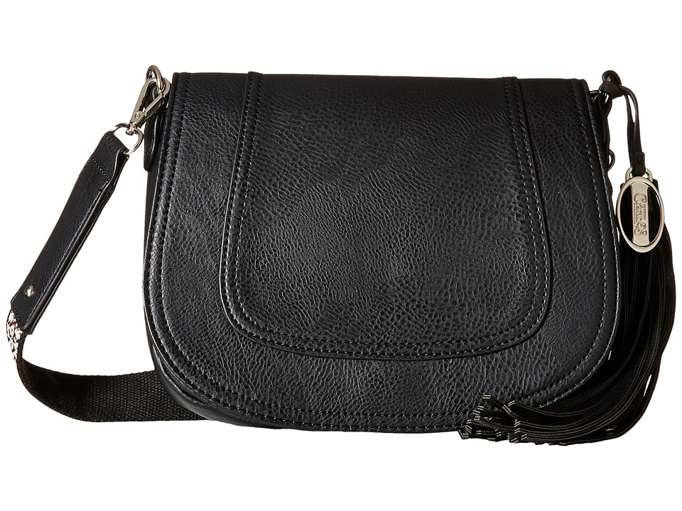 CARLOS by Carlos Santana - Katelyn Saddle Bag (Black) Bags