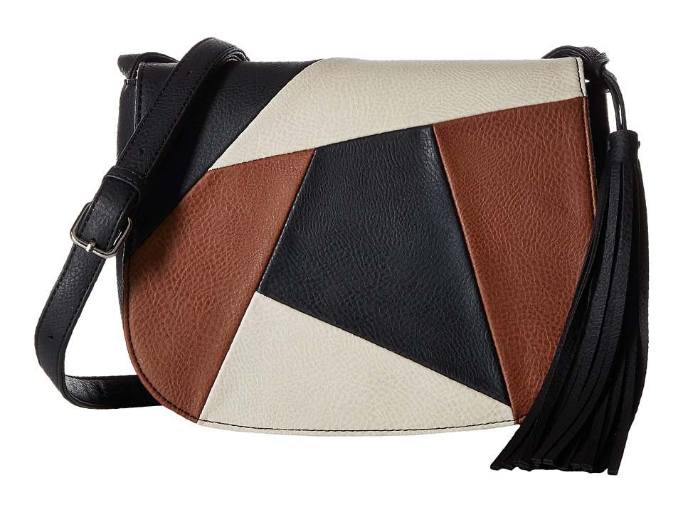 CARLOS by Carlos Santana - Kloe Saddle Bag (Black Multi) Bags