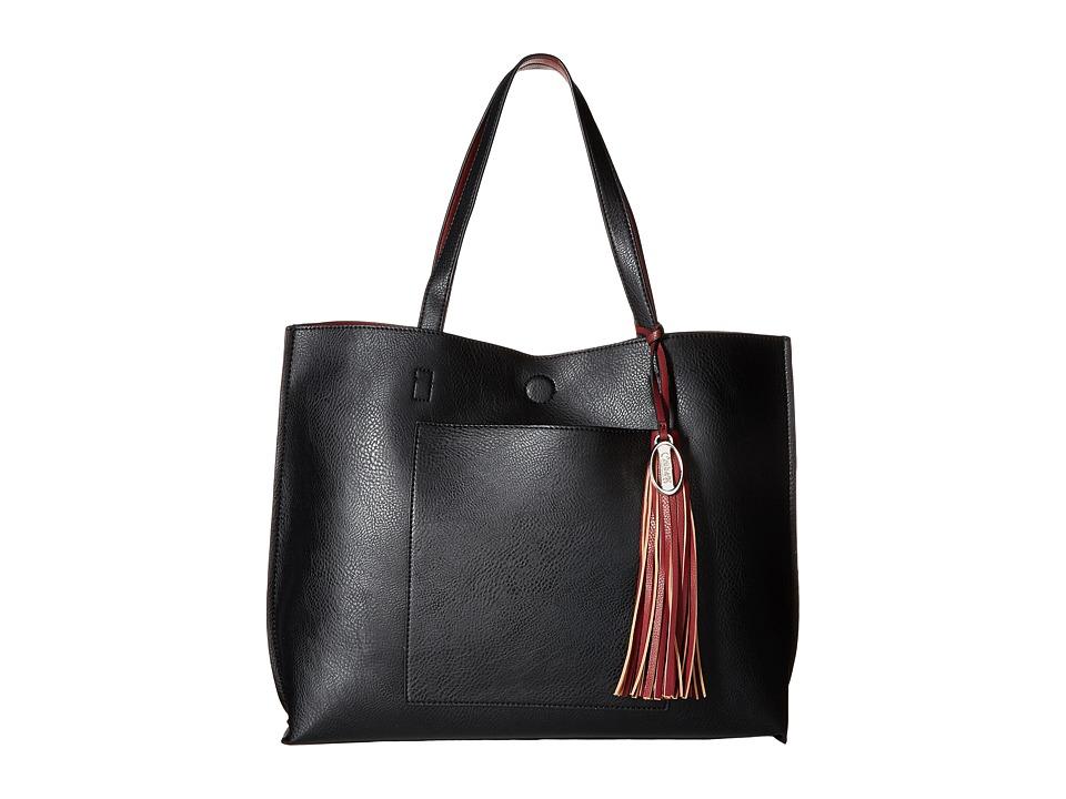 CARLOS by Carlos Santana - Leslie Tote w/ Wristlet (Black/Wine) Tote Handbags