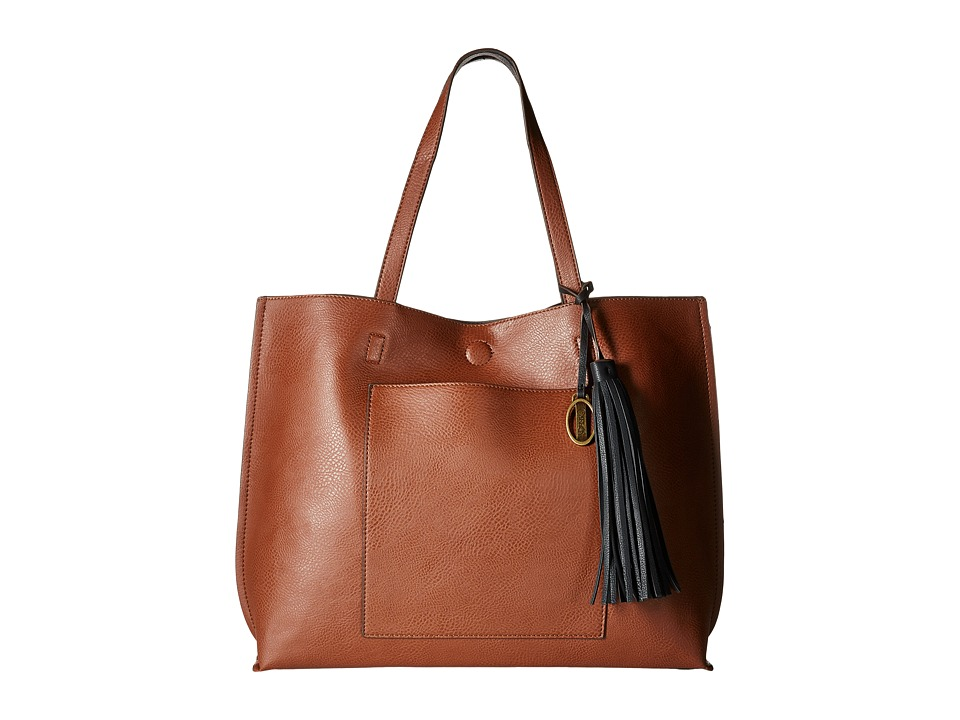 CARLOS by Carlos Santana - Leslie Tote w/ Wristlet (Cognac/Black) Tote Handbags