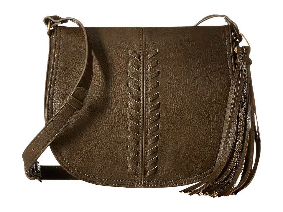 CARLOS by Carlos Santana - Sadie Saddle Bag (Olive) Handbags