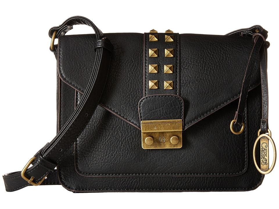 CARLOS by Carlos Santana - Serena Structured Flap (Black) Handbags