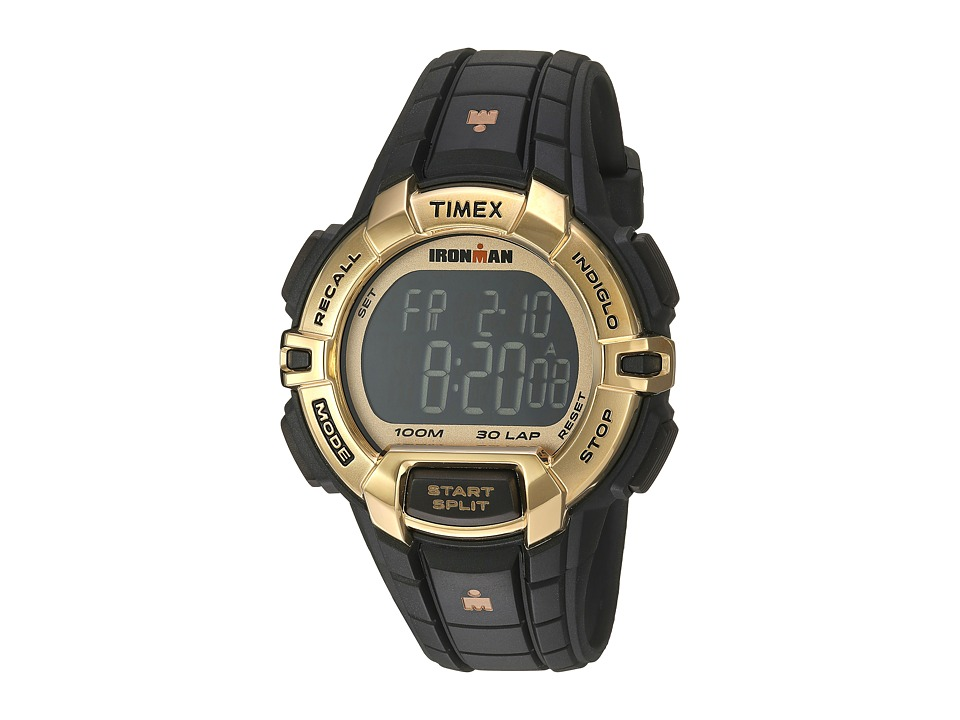 Timex - Ironman Rugged 30 Hollywood Full-Size Resin Strap (Black/Gold-Tone) Watches