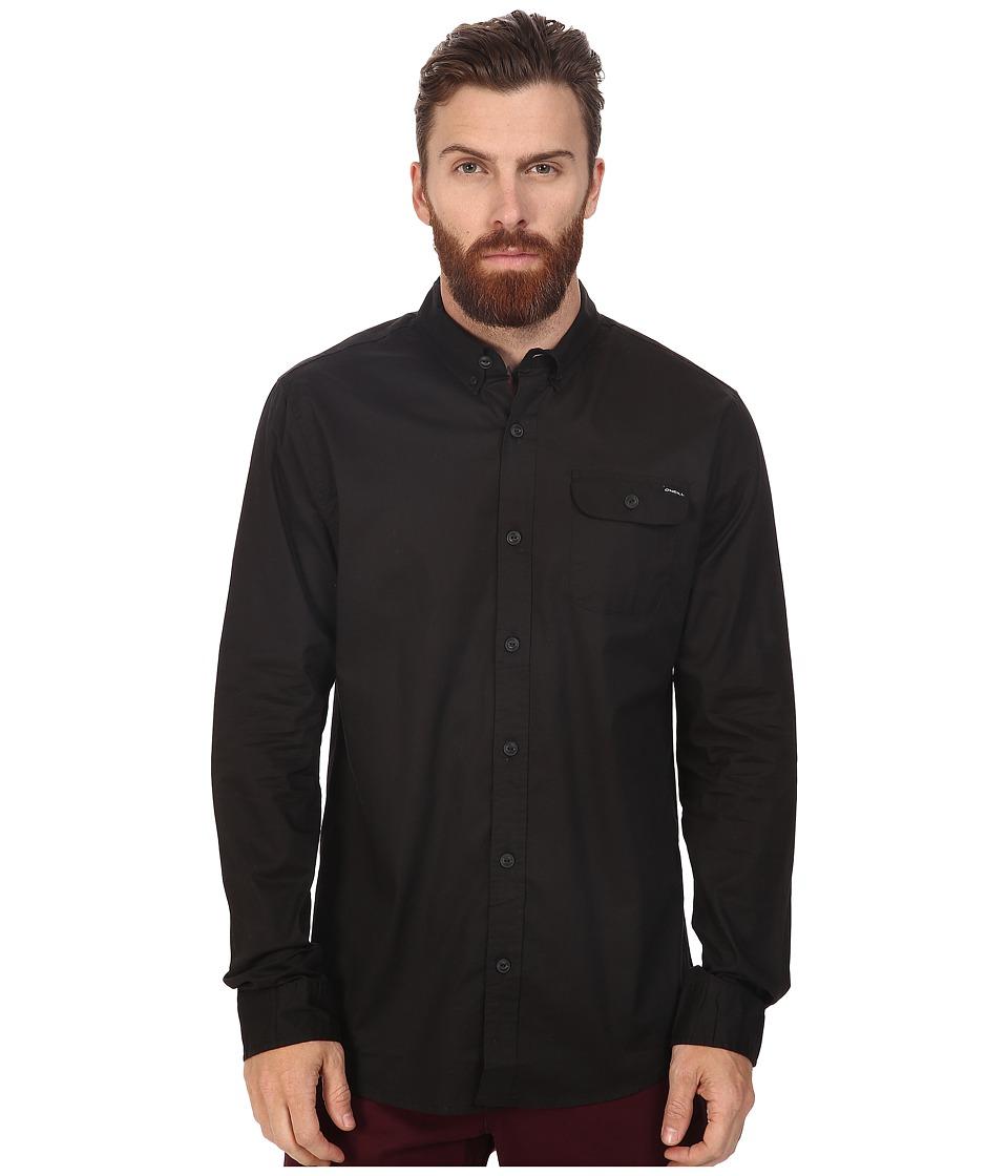 O'Neill - Emporium Mix Long Sleeve Top (Black) Men's Clothing