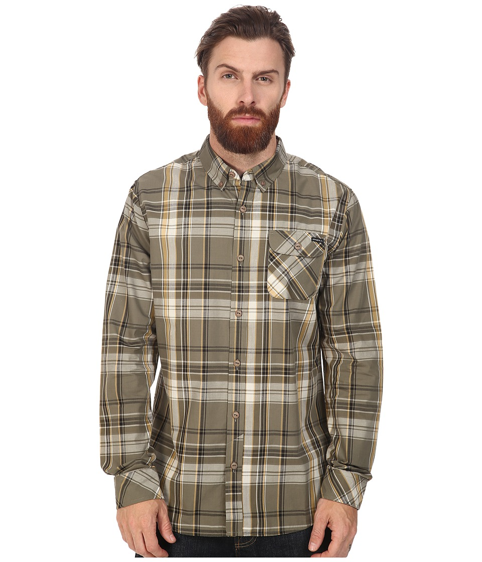 O'Neill - Emporium Mix Long Sleeve Top (Dusty Olive) Men's Clothing