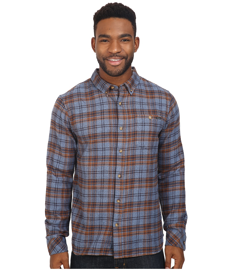 O'Neill - Redmond Flannel (Blue) Men's Clothing