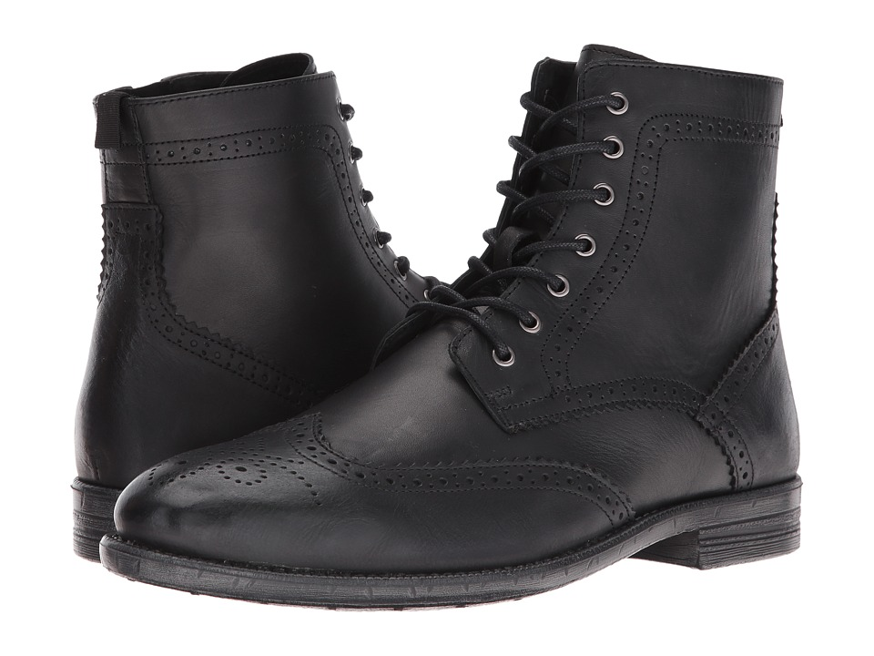 Robert Wayne - Jacques (Black) Men's Lace-up Boots