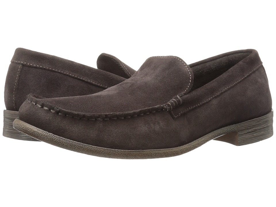 Robert Wayne - Maine (Dark Brown Suede) Men's Slip on Shoes