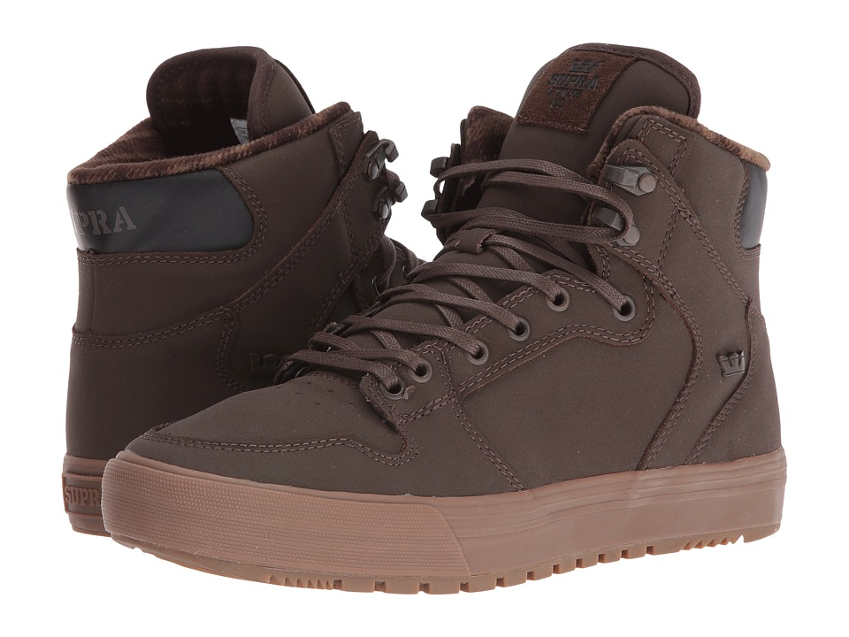 Supra - Vaider (Winter) (Demitasse/Dark Gum) Men's Skate Shoes
