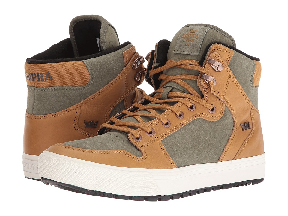 Supra - Vaider (Winter) (Bone Brown/Deep Lichen/Grey Violet/Black) Men's Skate Shoes