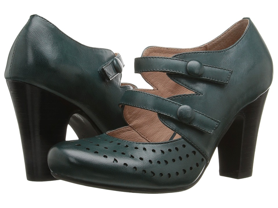 Miz Mooz - Judy (Teal) Women's 1-2 inch heel Shoes