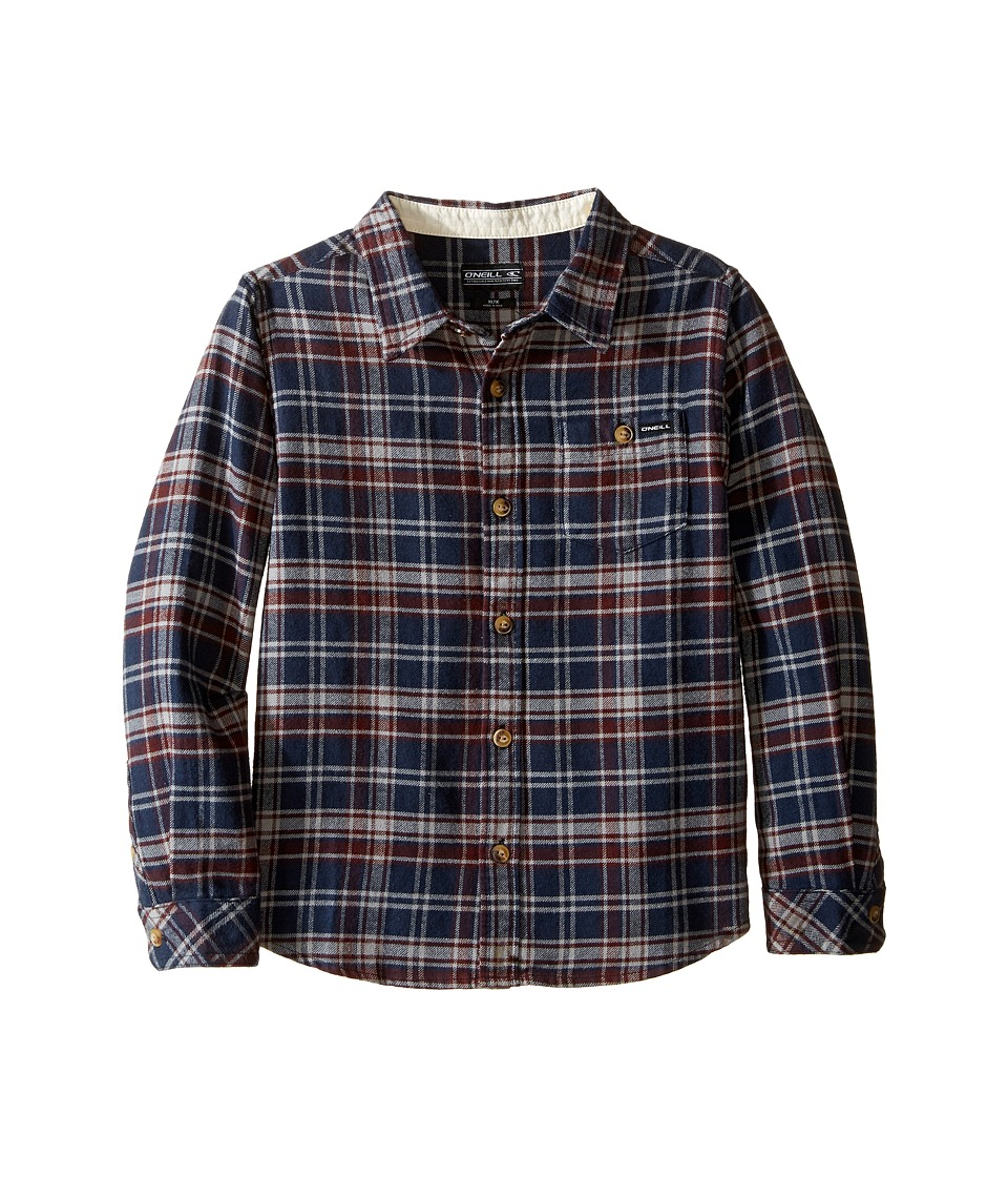 O'Neill Kids - Redmond Flannel Shirt (Little Kids) (Dark Navy) Boy's Clothing