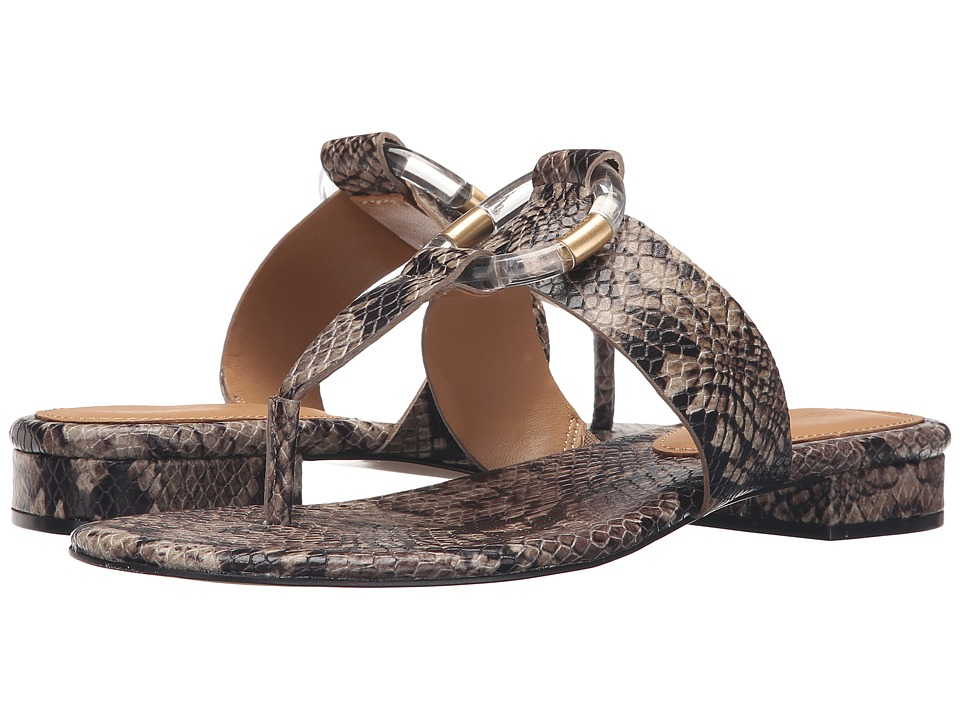 Calvin Klein - Aiden (Natural Snake Print Leather) Women's Sandals