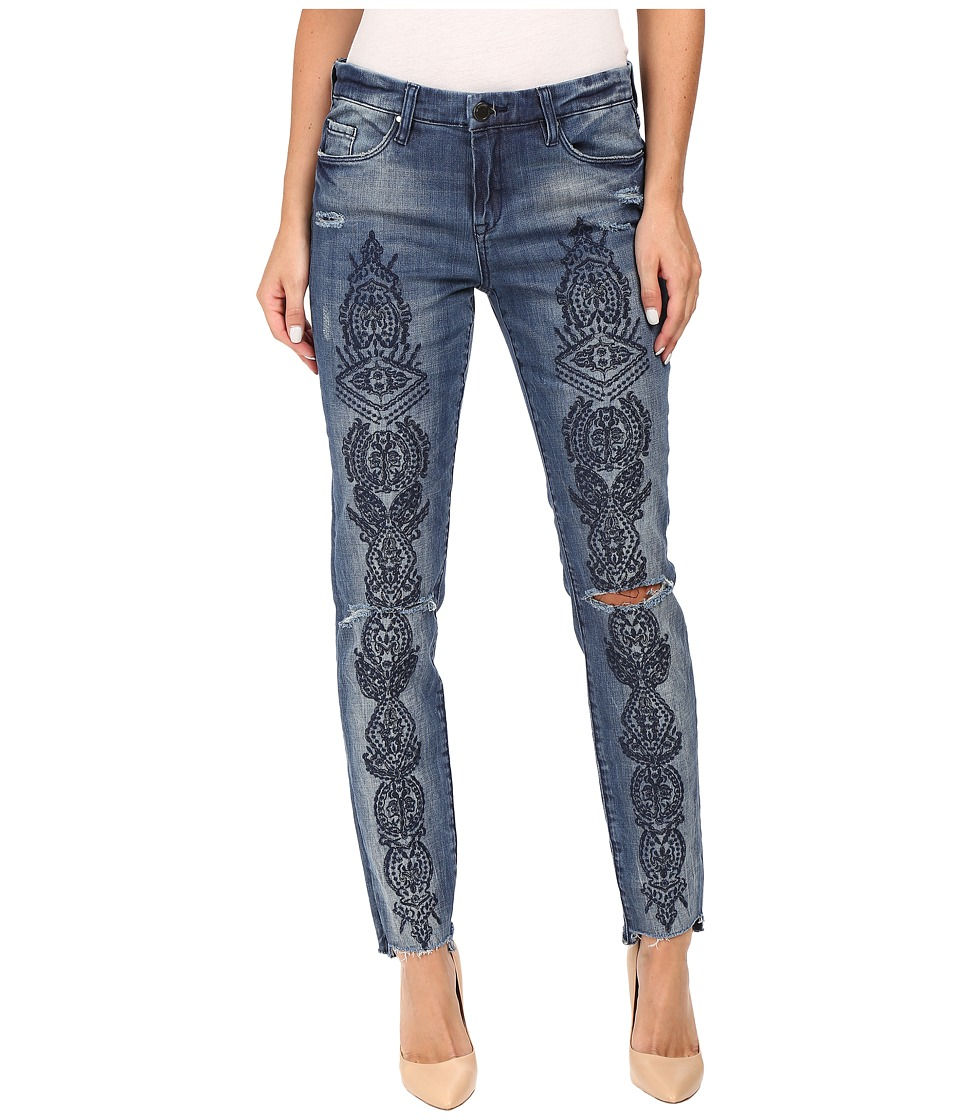 Blank NYC Denim Embroidered Skinny in Tiffany Blew (Blue) Women