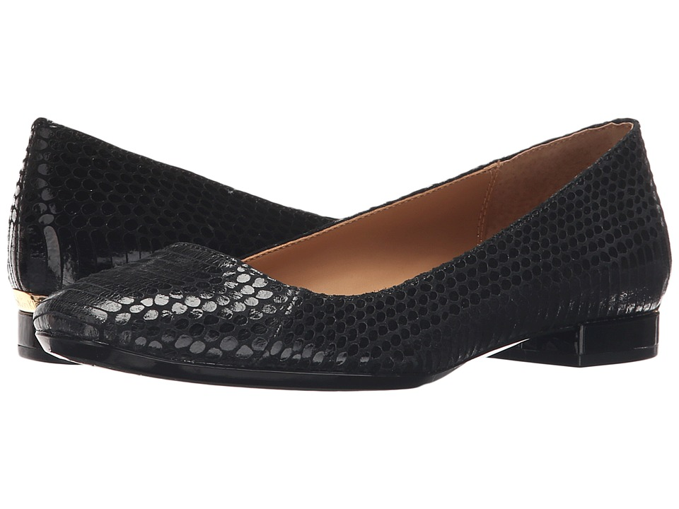 Calvin Klein - Felice (Black Snake Print Leather) Women
