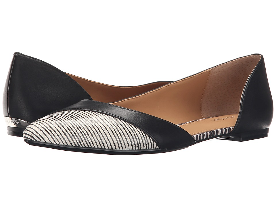Calvin Klein - Galine (Black/White Leather) Women's Shoes