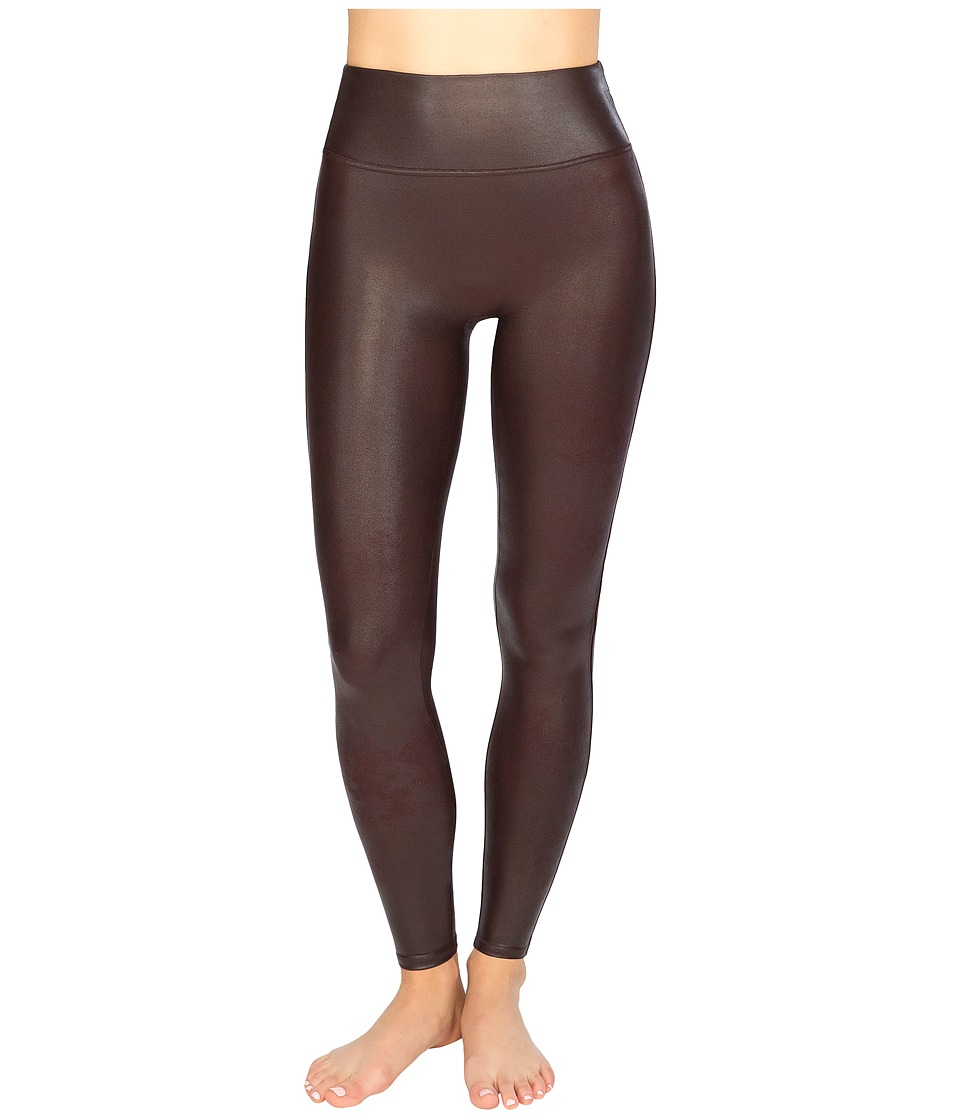 Spanx - Ready-to-Wow! Faux Leather Leggings (Wine) Women's Casual Pants