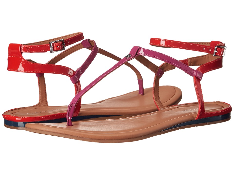 Calvin Klein - Haubrey (Jazzyberry/Orange Lacquer Patent) Women's Sandals