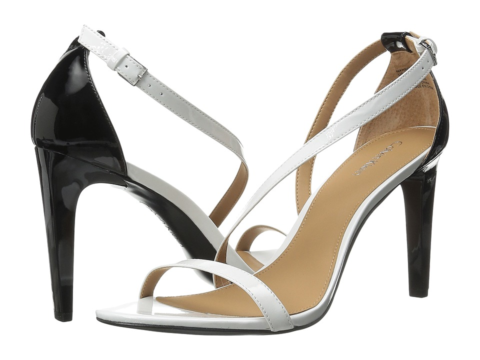 Calvin Klein - Narella (Platinum White/Black Patent) Women's Dress Sandals