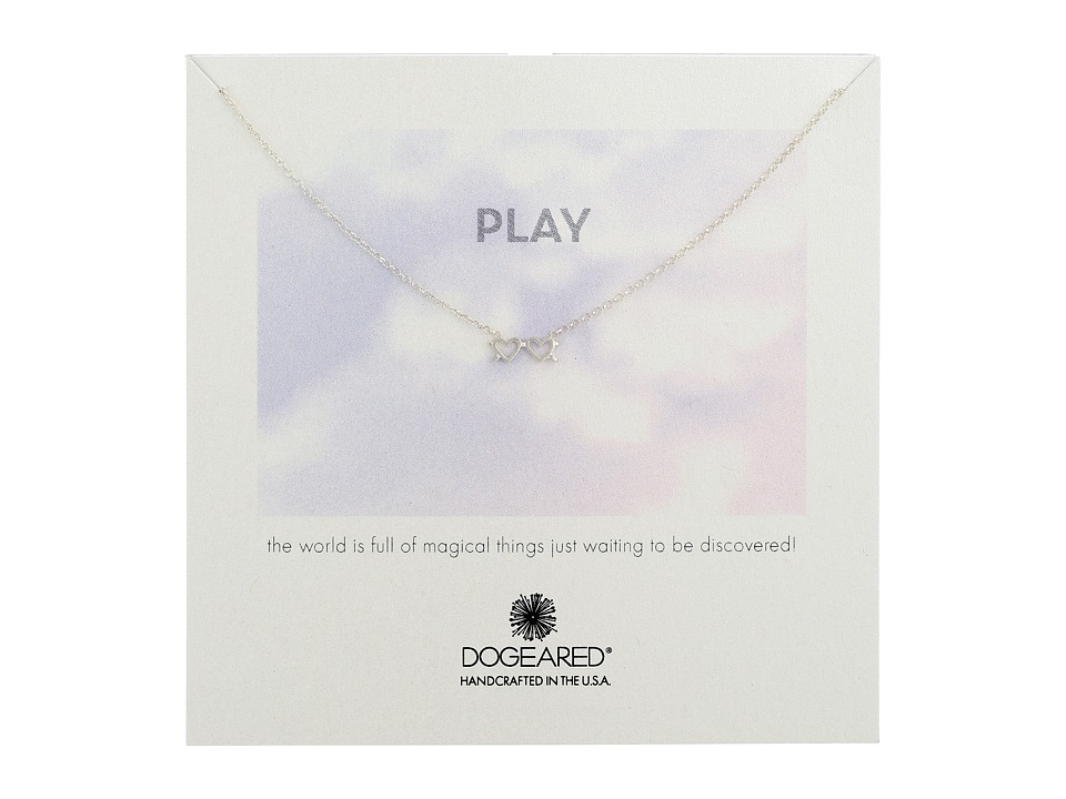 Dogeared - Play Heart Sunglasses Necklace (Sterling Silver) Necklace