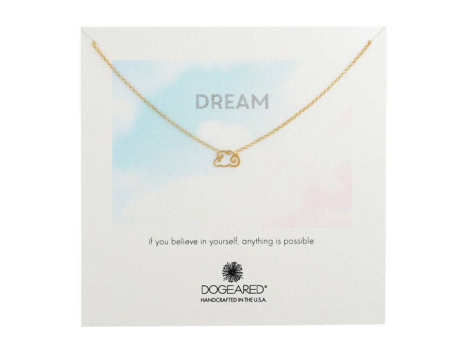 Dogeared - Dream Cloud Necklace (Gold Dipped) Necklace