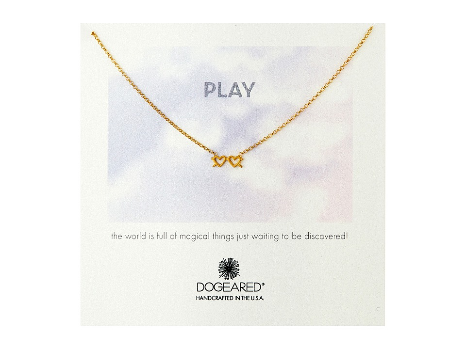 Dogeared - Play Heart Sunglasses Necklace (Gold Dipped) Necklace