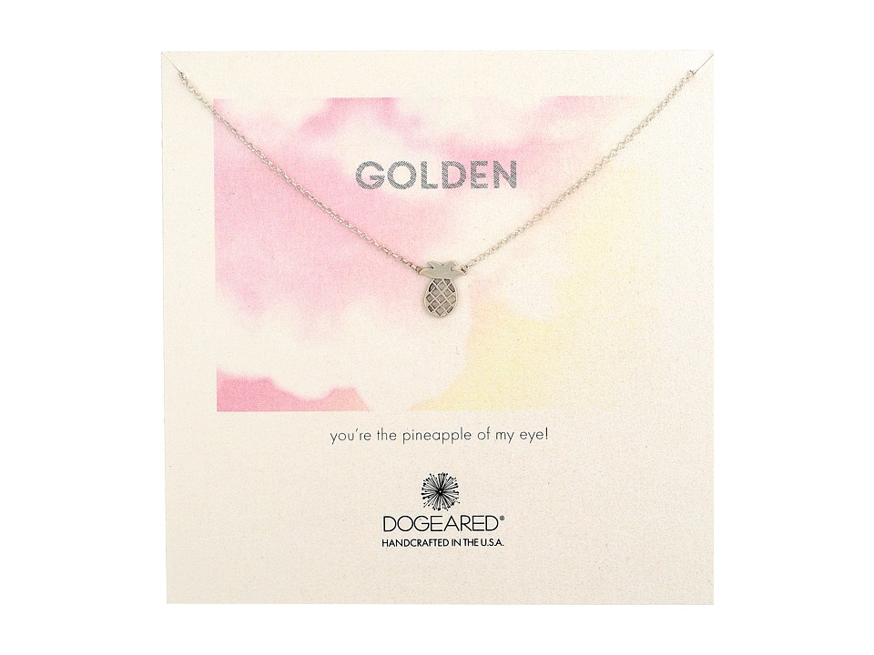 Dogeared - Golden Pineapple Necklace (Sterling Silver) Necklace