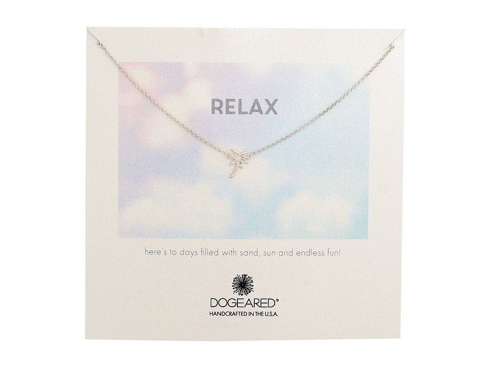 Dogeared - Relax Palm Tree Necklace (Sterling Silver) Necklace