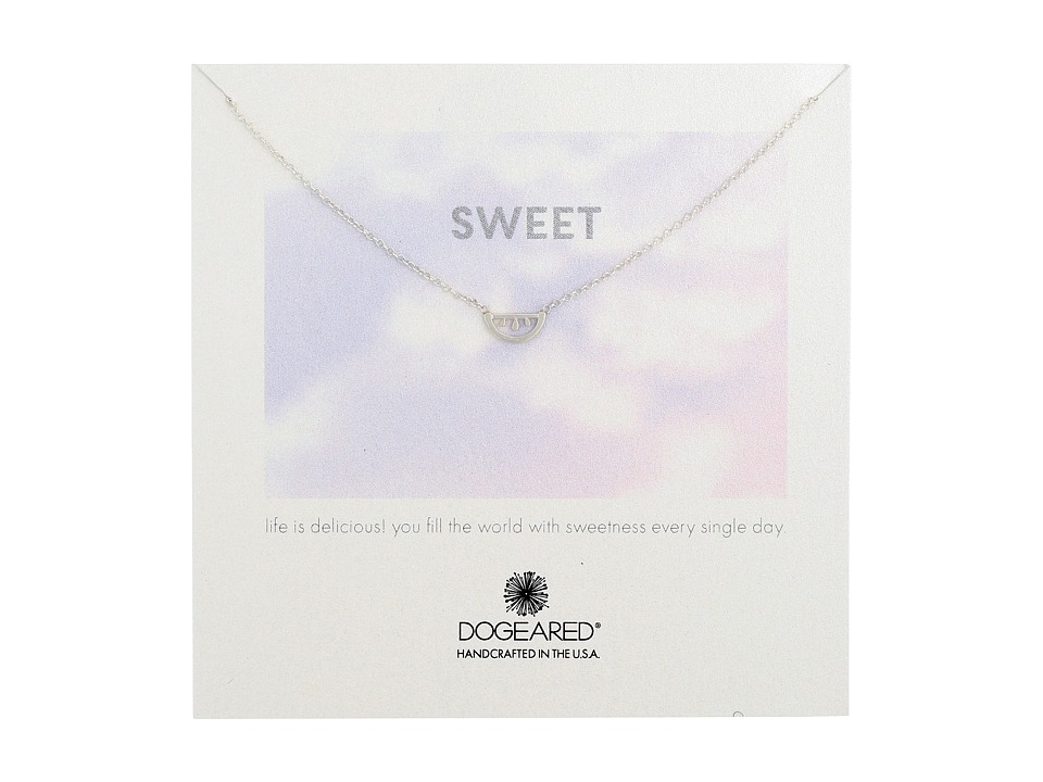 Dogeared - Sweet Watermelon Necklace (Sterling Silver) Necklace