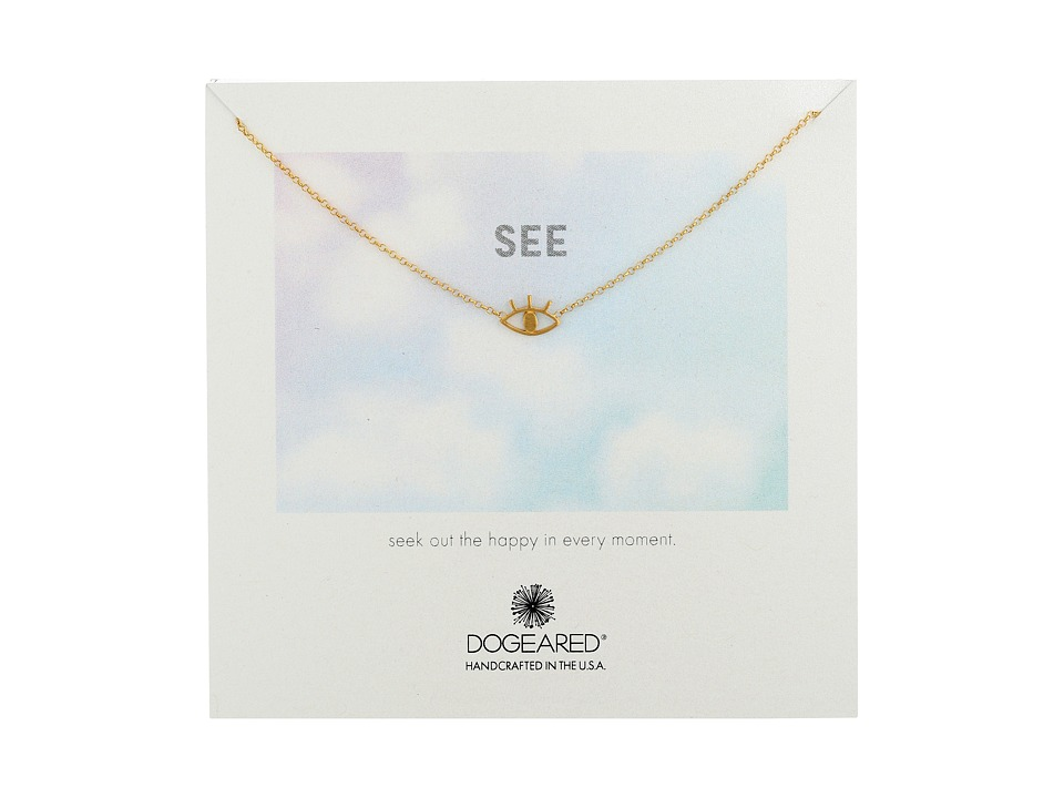 Dogeared - See Open Eye Necklace (Gold Dipped) Necklace