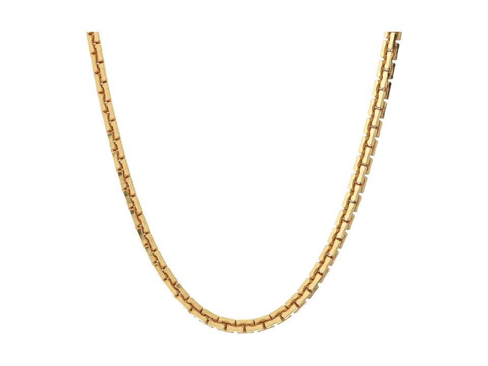 Dogeared - Top Layer Large Box Chain Choker (Gold Dipped) Necklace