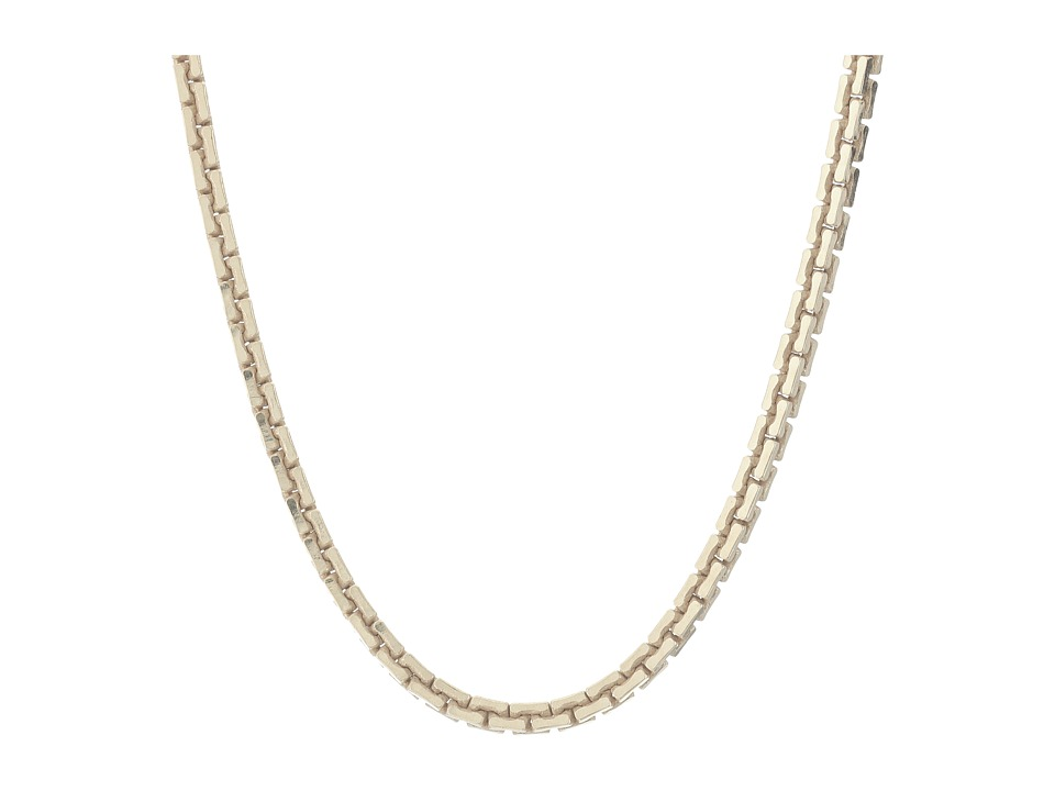 Dogeared - Top Layer Large Box Chain Choker (Silver Dipped) Necklace