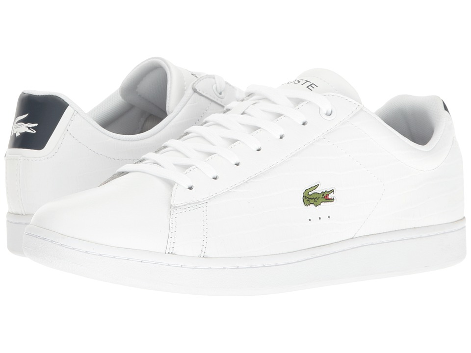 Lacoste - Carnaby EVO G316 7 (White/Navy) Men's Shoes