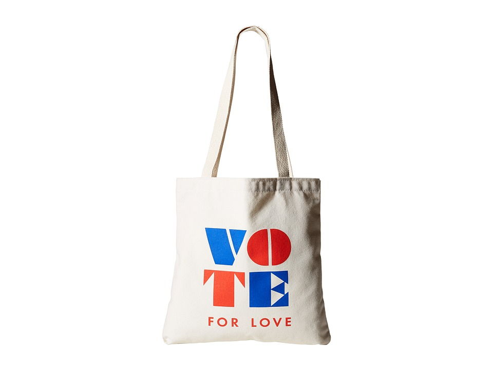 Dogeared - Vote For Love Lil' Tote (Canvas) Tote Handbags