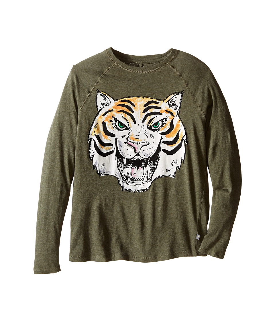 Stella McCartney Kids - Max Tiger Graphic Raglan T-Shirt (Toddler/Little Kids/Big Kids) (Khaki) Boy's T Shirt