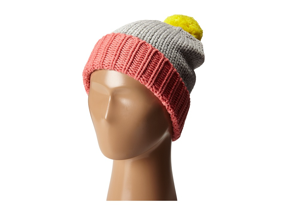 Stella McCartney Kids - Sparky Pom Pom Knit Hat (Grey) Caps