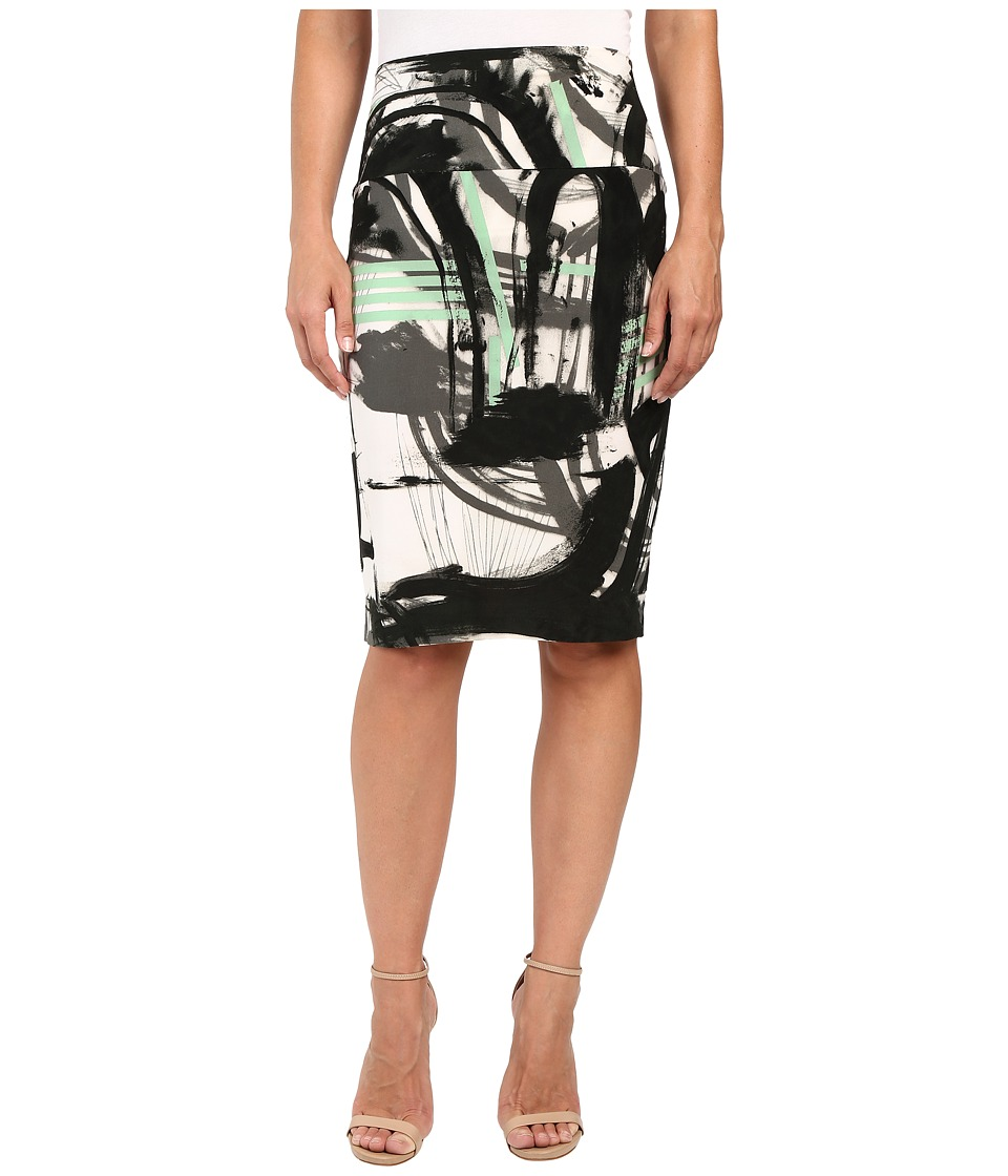 KAMALIKULTURE by Norma Kamali - Skirt To Knee (Graffiti) Women's Skirt