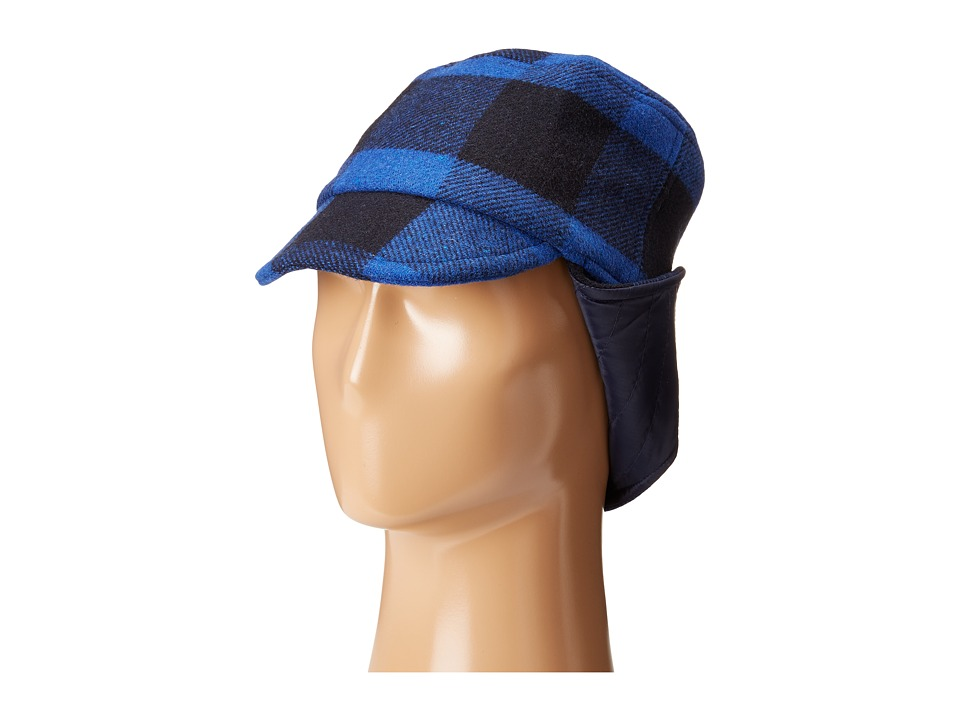 Stella McCartney Kids - Elk Checkered Wool Hat (Blue Checks) Caps